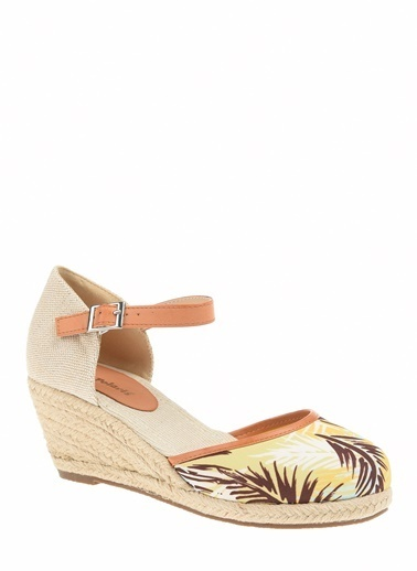 Polaris Polaris Hasır Topuklu  Düz Ayakkabı Sarı